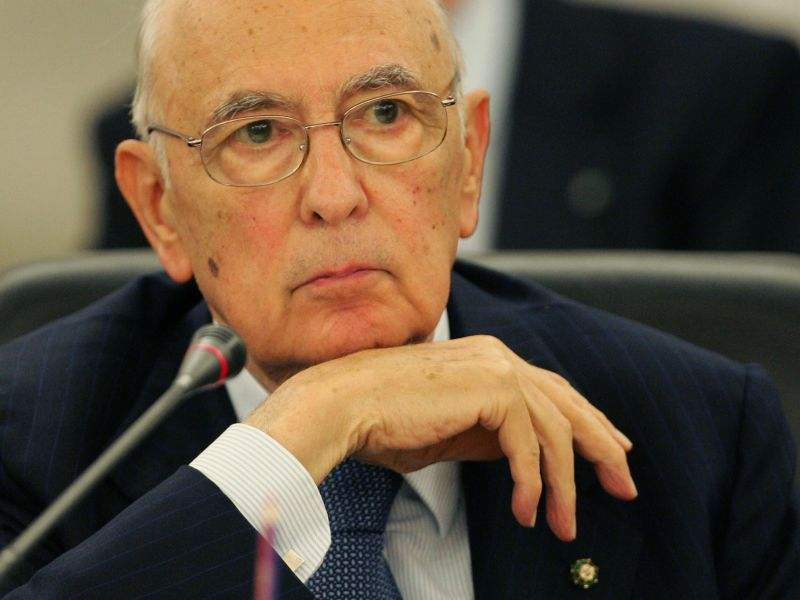 Napolitano sono preoccupato per il parlamento grande for Parlamento ieri
