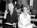 Livia Danese e Giulio Andreotti, in una foto dei loro ultimi anni insieme