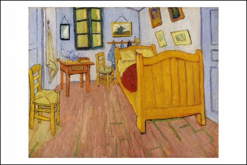 dormire nella camera di van gogh possibile un museo di chicago ha ricreato nei minimi dettagli. Black Bedroom Furniture Sets. Home Design Ideas