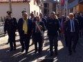 Da sin. Sottosegretario d'Abruzzo Mazzocca, il Sindaco Giuseppe D'Alonso e il Capo Dipartimento dI Protezione Civile Angelo Borrelli