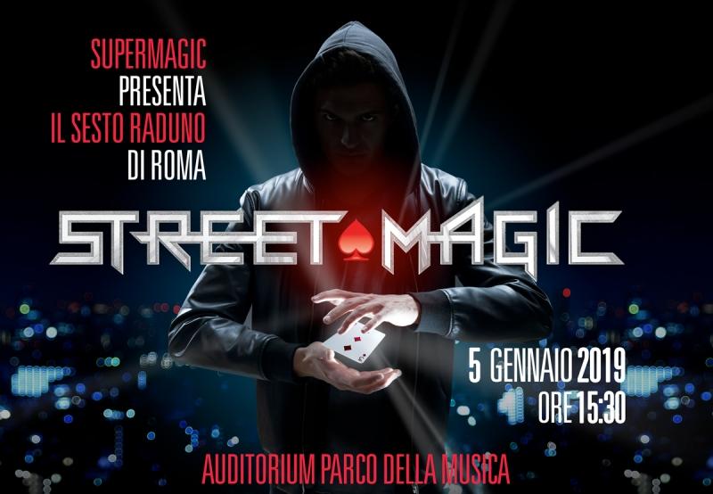 Sesto Raduno di Street Magic a Roma Auditorium Parco della Musica